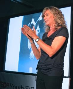 Lisa speaking at TEDxYouth at Summit Prep, Jun 6, 2014. So cool!