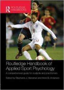This sport psych academic book is one of my excellent resources in teaching mental skills.  I was also honored to co-author Chap 5.